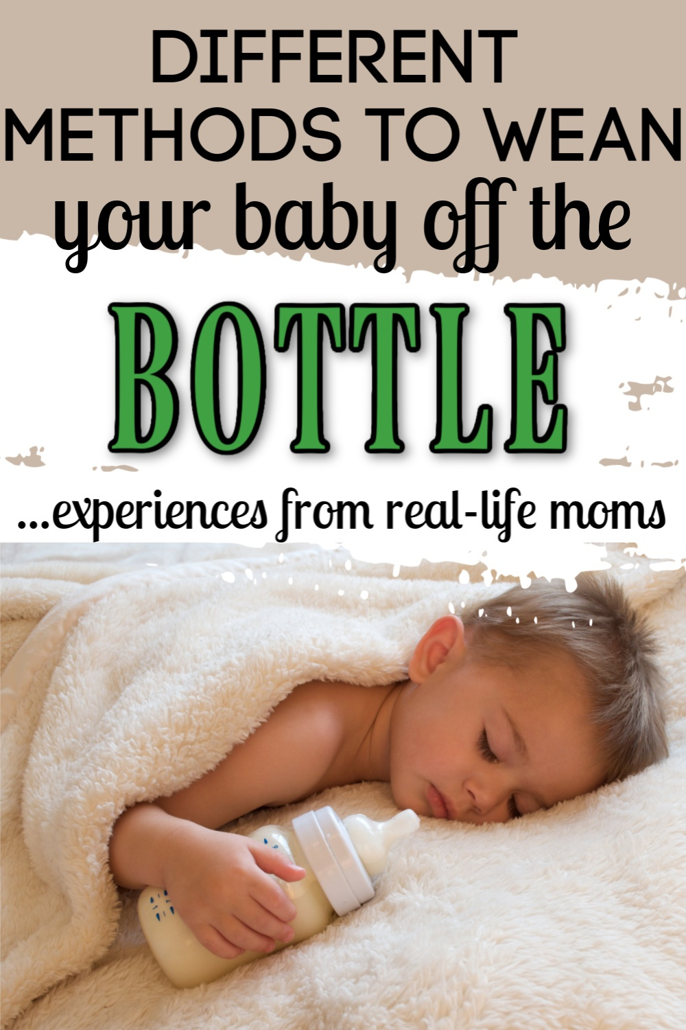 weaning your child off the bottle
